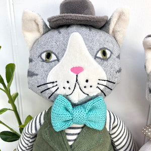 Personalised Soft Toy Cat