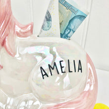 Personalised Money Box Unicorn