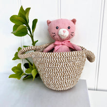 Personalised Linen Cat In Basket