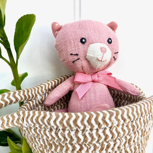 Personalised Linen Mouse In Basket