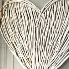 Giant White Willow Heart Wall Art
