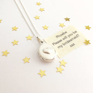 Sterling Silver Oval Message Locket