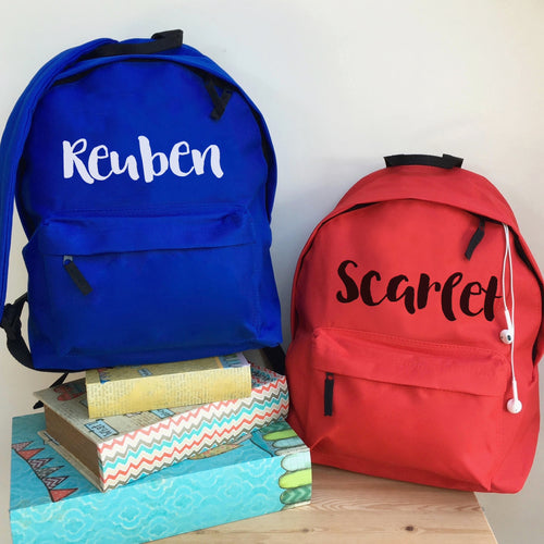 Personalised School Backpack (Vinyl)