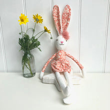 Personalised Linen Hare in Orange Dress