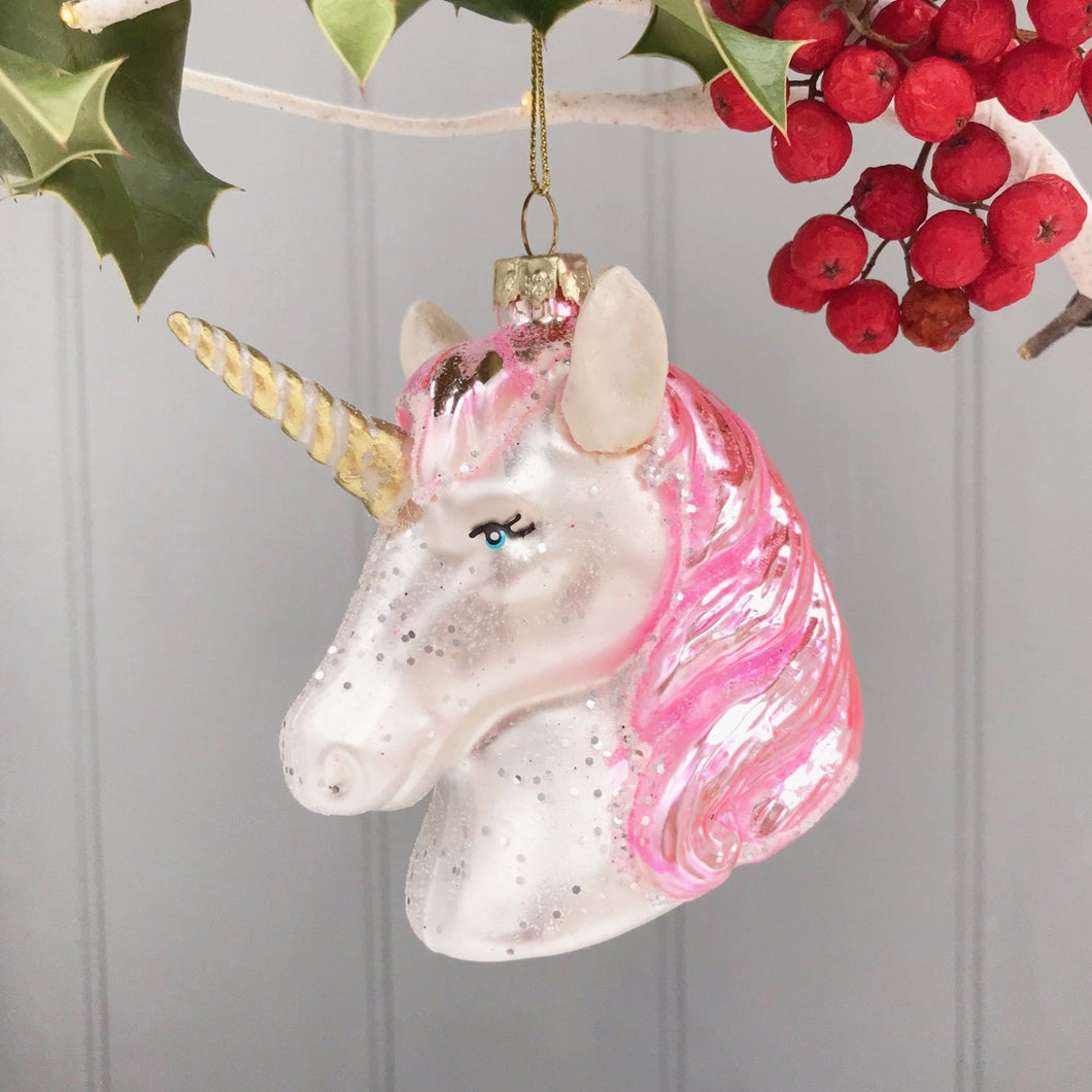 Glass Unicorn Large Decoration