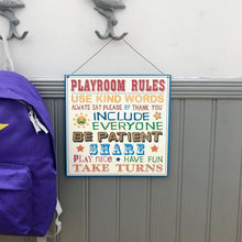 Playroom Rules Sign
