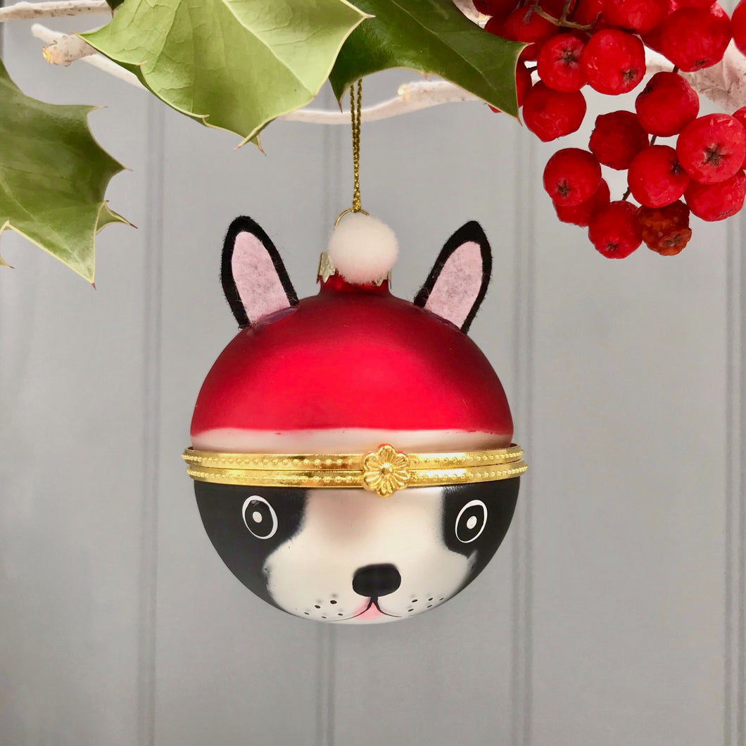French Bulldog Glass Bauble