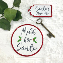 Santa's Magic Key And Milk Coaster