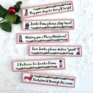 Christmas Wooden Dog Sign