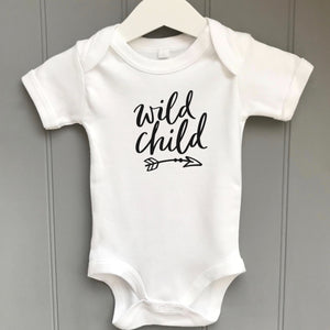 Personalised  Baby Grow Wild Child
