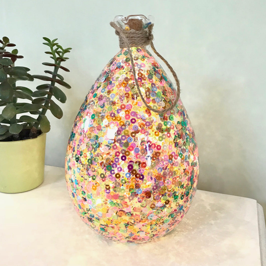 Colourful Light Up Bottle Oval