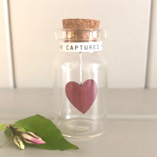 Letterbox Gift You've Captured My Heart Jar