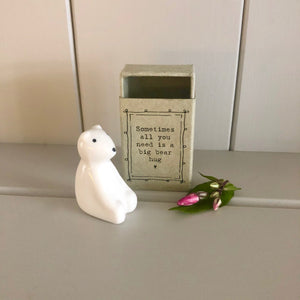Matchbox Porcelain Bear