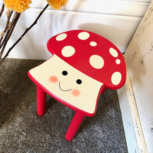 Personalised Red Woodland Stool