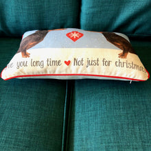 Dachshund Christmas Cushion