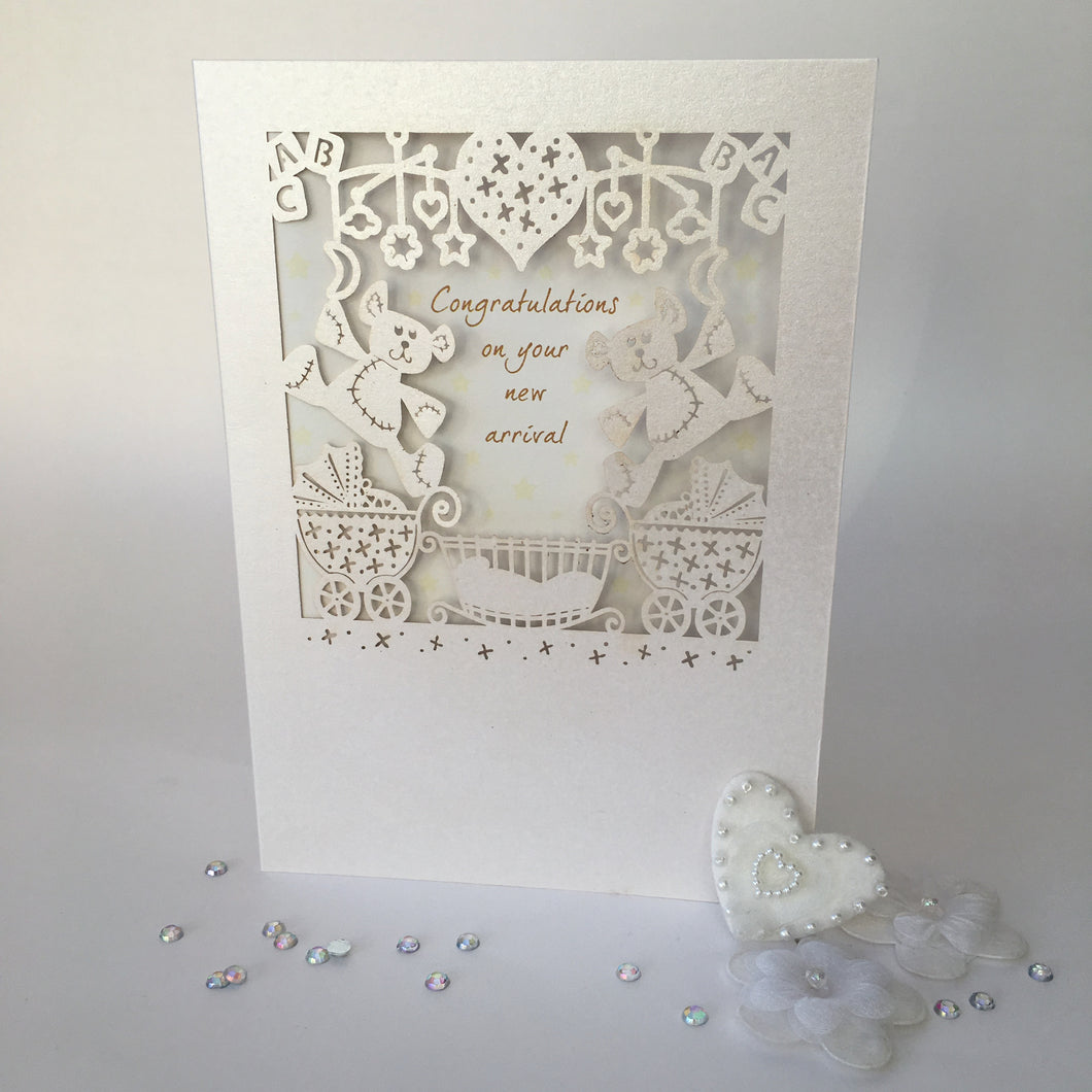 Delicate Cut Baby Card