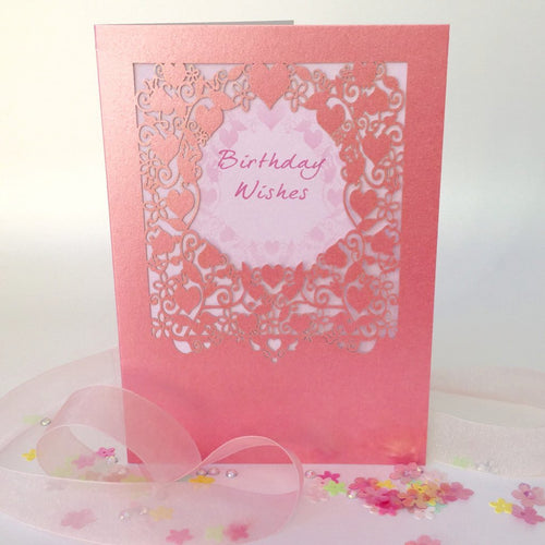 Delicate Cut Card Birthday Wishes