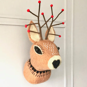Christmas Reindeer Felt Head