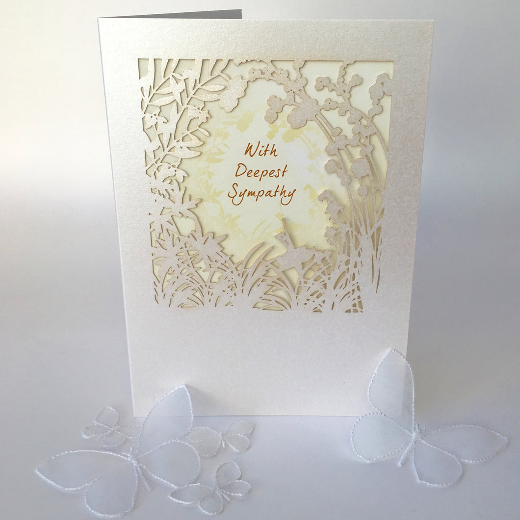 Delicate Cut Card With Deepest Sympathy