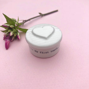 Porcelain First Tooth Box With Heart