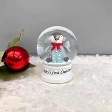 Baby's First Christmas Glass Snow Globe