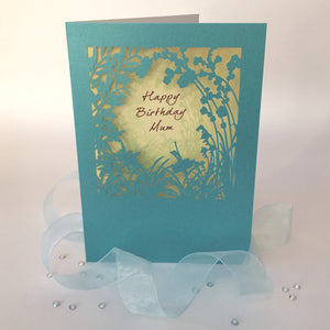 Delicate Cut Card Happy Birthday Mum
