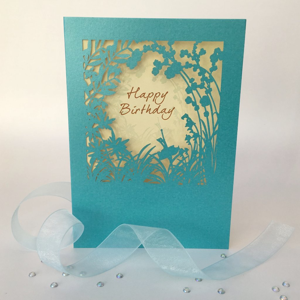 Delicate Cut Card Happy Birthday