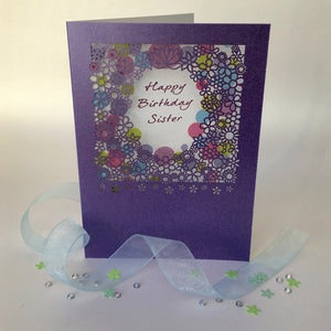 Delicate Cut Baby Blue Card