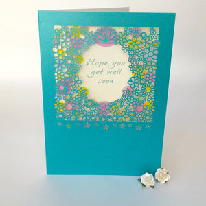 Delicate Cut Card Get Well Soon (3629)