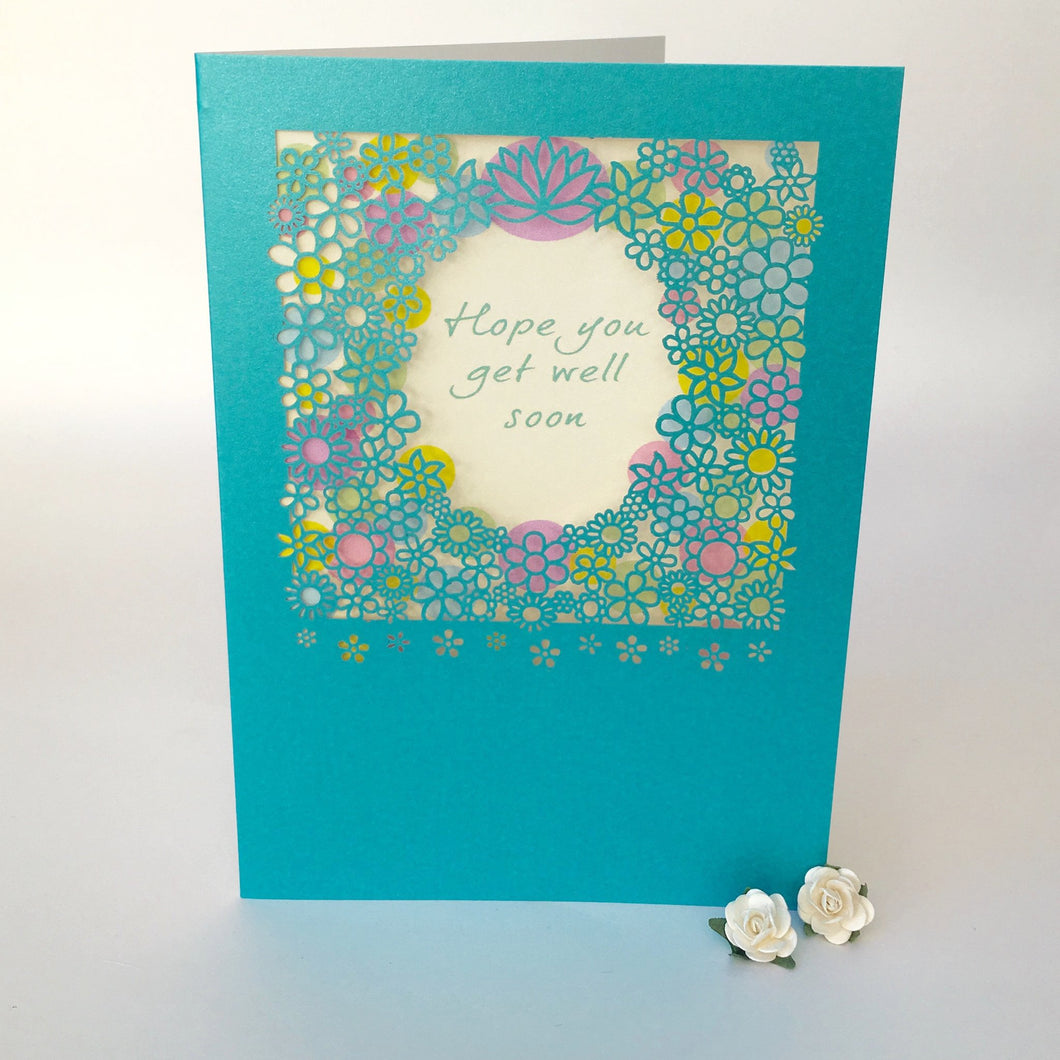 Delicate Cut Card Get Well Soon