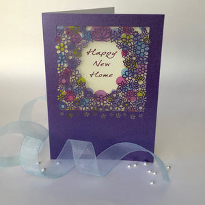 Delicate Cut Happy New Home Card
