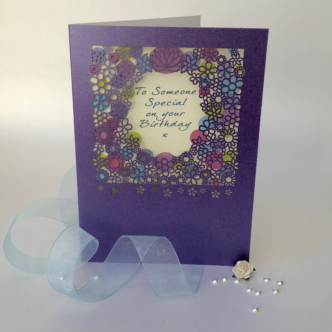 Delicate Cut Card Someone Special Birthday