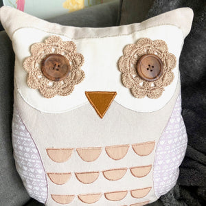 Personalised Retro Style Owl Cushion