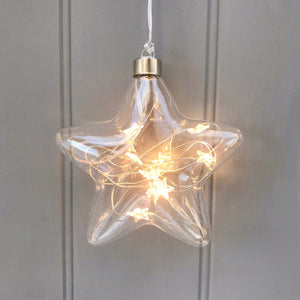 Light Up Personalised Glass Star