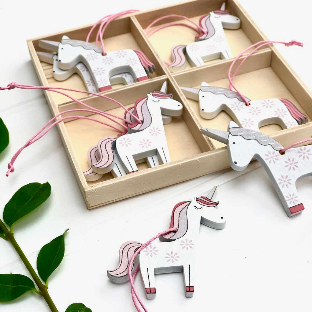 Box Of Hanging Unicorn Decorations