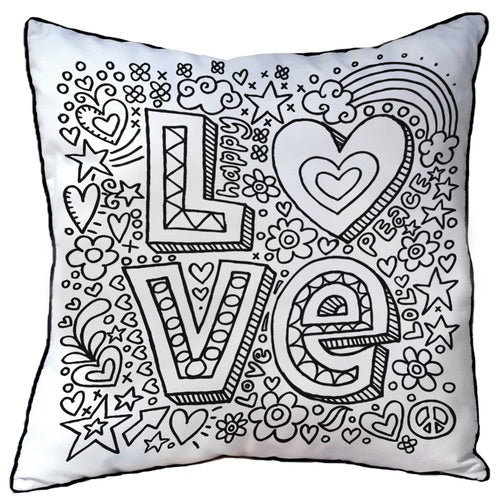 Colour In Cushion Love Design