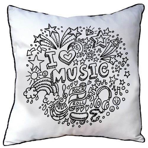 Colour In Cushion Music Design
