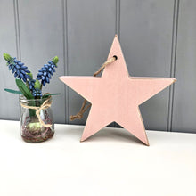 Personalised Pink Chunky Wooden Star