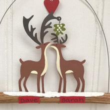 Personalised Kiss Me Deer Decoration