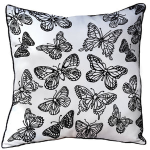 Colour In Cushion Butterflies Design