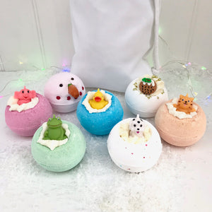 Merry Christmas Personalised Bath Bomb Gift Set
