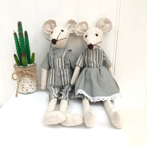 Personalised Soft Toy Linen Mouse