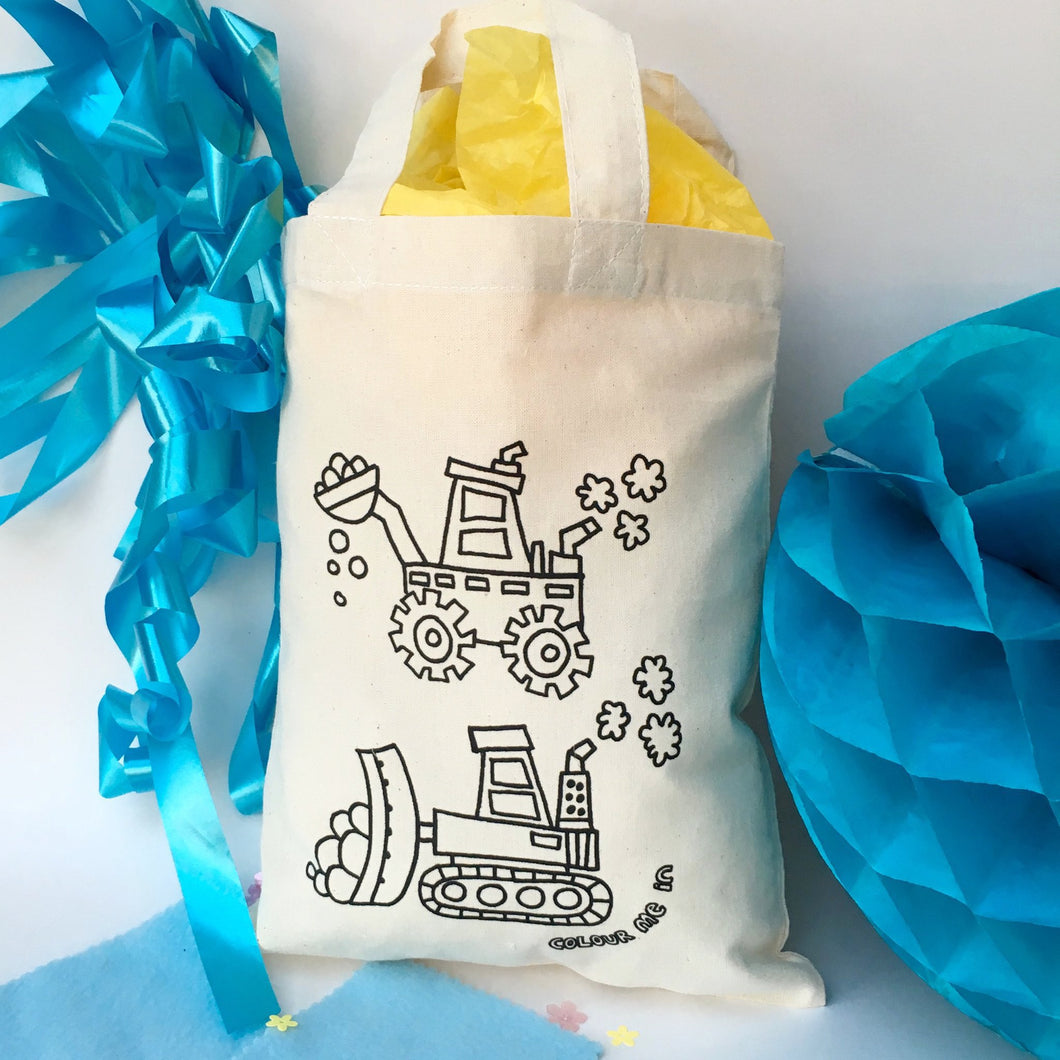 Tractor Colour In Party Bag