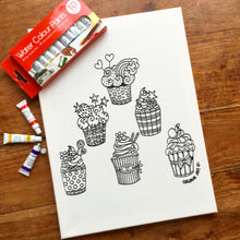 Colouring In Painting Kit Cat Canvas