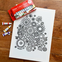 Colouring In Painting Kit Cupcakes Canvas