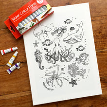Colouring In Painting Kit Unicorn Canvas