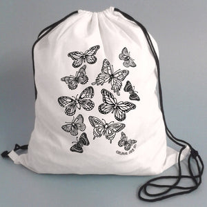 Colour Me In Butterflies Drawstring Bag