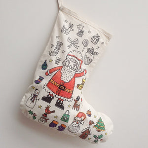 Colour Me In Christmas Stocking