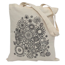 Tote Bag Colour Me In Flowers