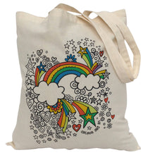 Tote Bag Colour Me In Rainbow